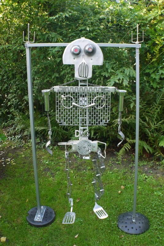 Recycled Skeletton Recycled Art Recycling Metal
