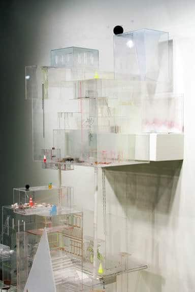 Architectural sculpture made with100% recycled plexiglas