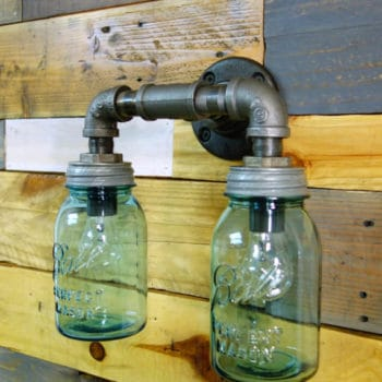 Industrial Upcycled Lighting From Vintage Mason Jars