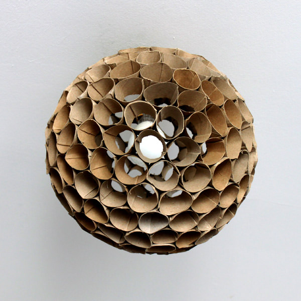toilet roll lampshade in diy  with Lampshade Cardboard