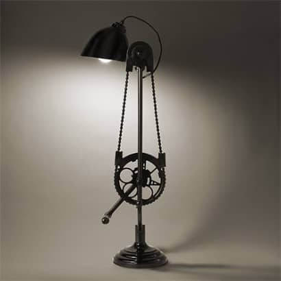 Bicycle desk lamp