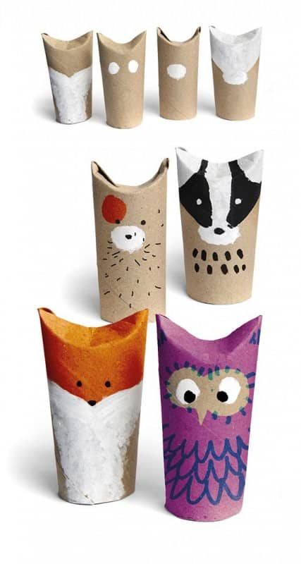 Easy Crafts With Upcycled Toilet Paper Rolls Do-It-Yourself Ideas Recycled Cardboard