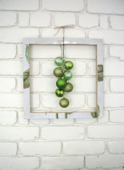 Framed Green Bubble Wreath