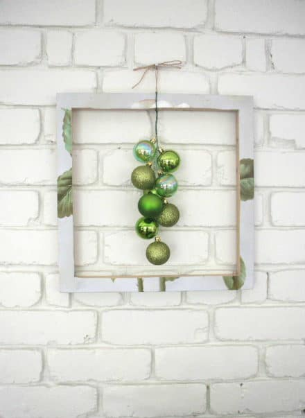 Framed Green Bubble Wreath