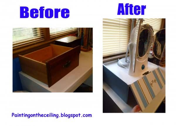Dresser Drawer Upcycled into Lampstand With Storage Recycled Furniture