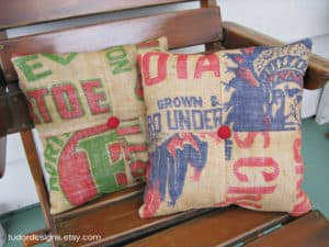 Upcycled Burlap Sacks