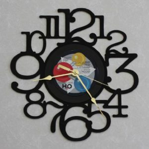 DARYL-HALL-JOHN-OATES-H2O-LP-RECORD-WALL-CLOCK-made-from-the-Vinyl-Record-Album-LP-Recycled-into-a-Decorative-Functional-Art-Clock-0