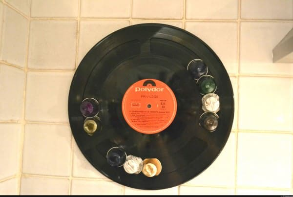 Recycled Vinyl Lp Record into Display for Your Nespresso Coffee Caps Accessories Recycled Vinyl