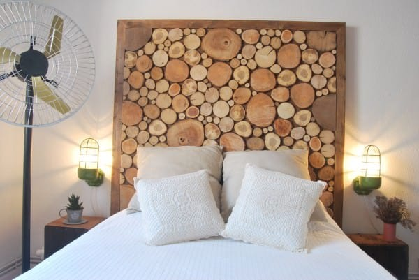 Tree Headboard in wood furniture  with Tree Nature logs headboard