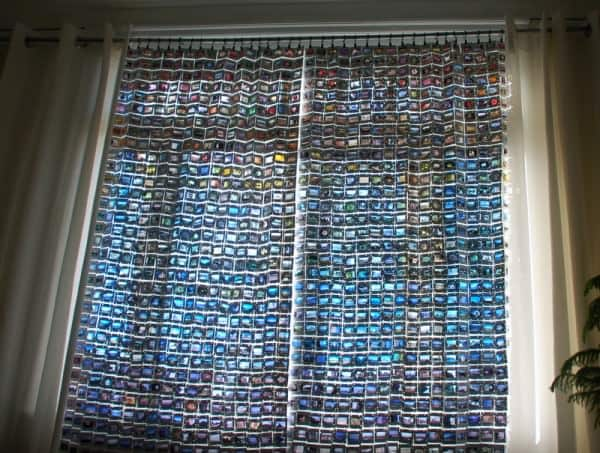 Upcycled 35mm film slide curtains in diy accessories  with Upcycled Recycled