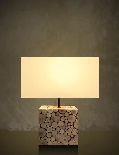 Driftwood Mosaic Table Lamp - Home Décor, Table, Accent, Reading
