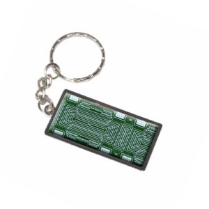 Empty-Circuit-Board-Design-Keychain-Key-Chain-Ring-0