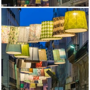 Paris Deco Off: Repurposed Lampshades in the Street