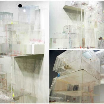 Architectural Sculpture Made Entirely From Recycled Plexiglass
