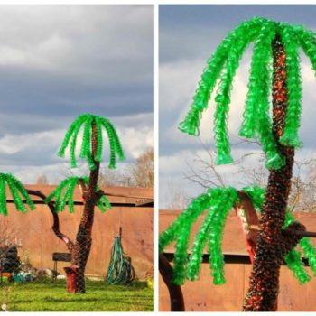 Palm Tree Made ​From Recycled Plastic Bottles