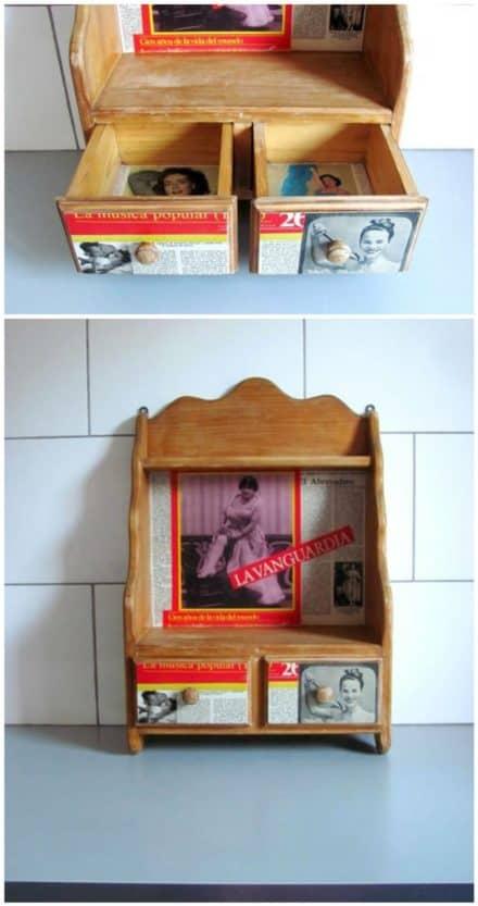 Upcycled Kitchen Shelf