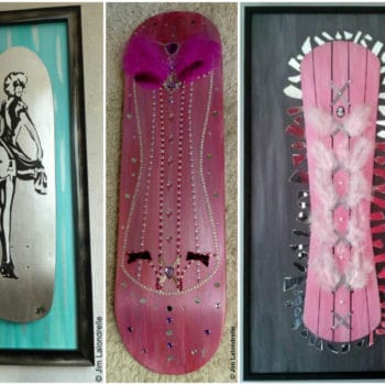Upcycled Skateboard Deck Art