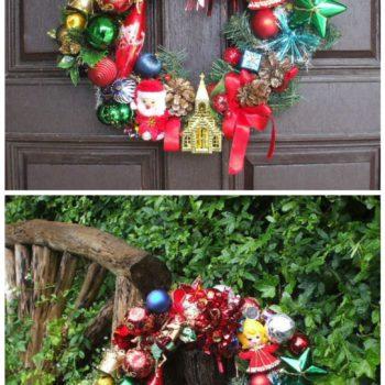 Ollie's Magical Retro Christmas Wreath