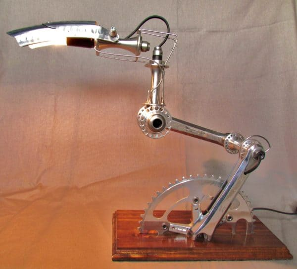 "Recycled Bike part Lamps ""Velolumiere"" in lights bike friends  with Recycled Light Lamp housewares home decor Bike"