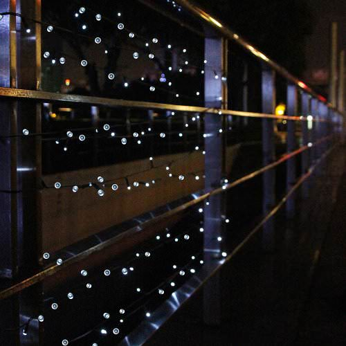 Solar Porch String Lights : Innoo Tech 55ft - 100 LED white Solar Fairy String Lights ? Recyclart Shop