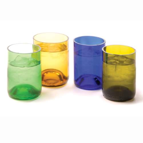 """Be the first to review """"Recycled Glass Wine Bottle Tumblers, Set of ..."""