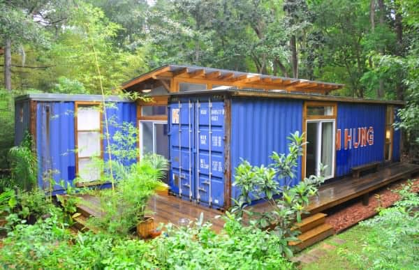 Container modern house in Savannah in architecture  with Repurposed House Container