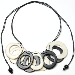 Tagua-Holes-Eco-Friendly-Necklace-Black-and-White-0