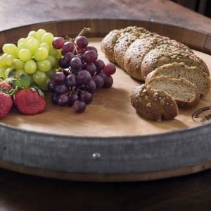 True-Fabrications-Used-Wine-Oak-Barrel-Lazy-Susan-and-Serving-Tray-used-in-wine-production-2-5-years-0