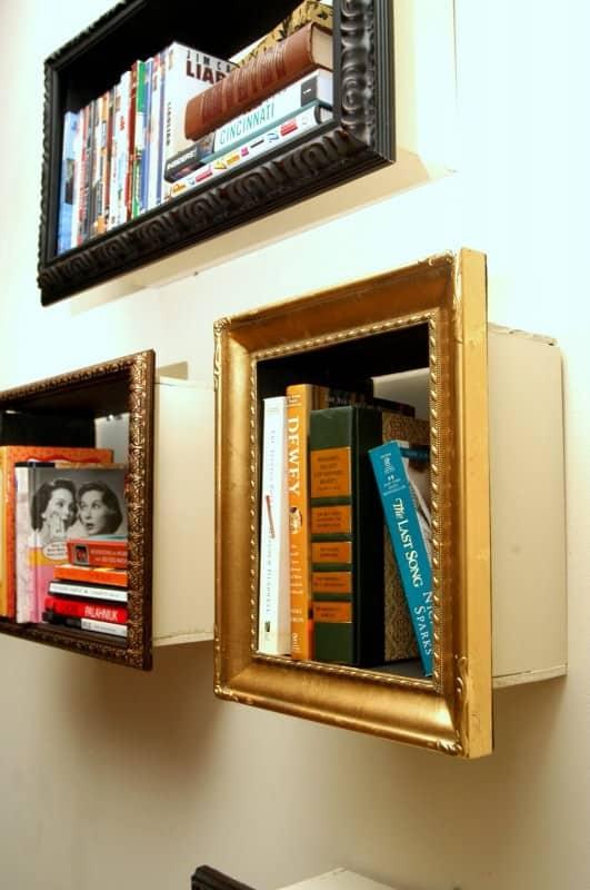 Photoframe Bookshelves Recycled Furniture