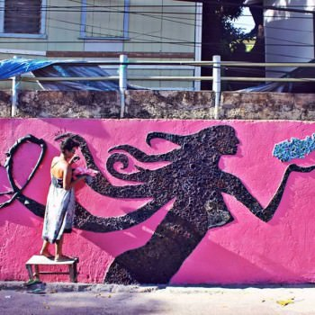 Mural for breast cancer awareness