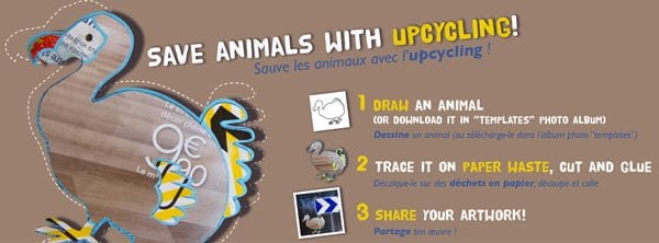 Create an animal with paper waste and share your artwork! Do-It-Yourself Ideas