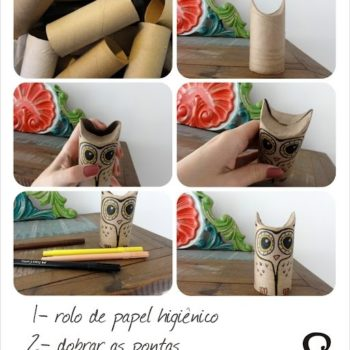 Owls From Upcycled Toilet Paper Rolls