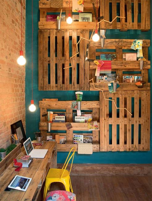 Office Improvement with Pallets Recycled Pallets