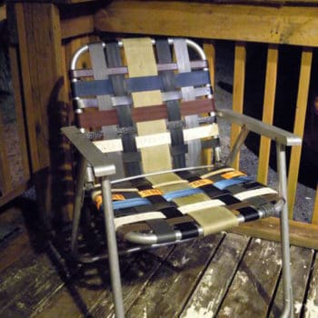Refurbish An Old Folding Lawn Chair With Seatbelt Webbing & Old Belts