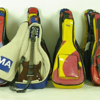 Upcycled Truck Tarps & Banners Into Guitar Case