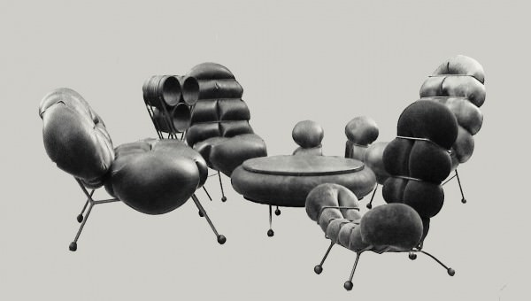 Inner tubes Salon Recycled Furniture Recycled Rubber