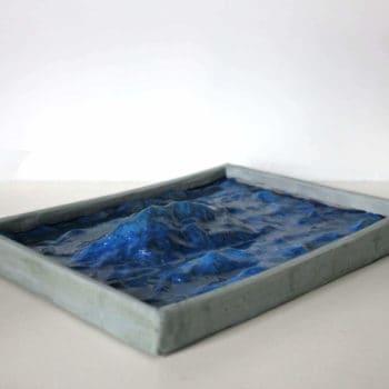 Waves art sculpture