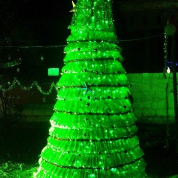 1500 Plastic Bottles Christmas Tree