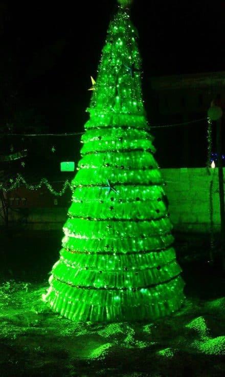 1500 Plastic Bottles Christmas Tree