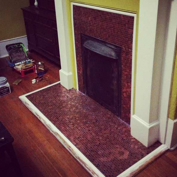 Penny fireplace in architecture  with wall Penny floor fireplace