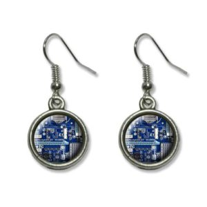 Blue-Computer-Motherboard-Processor-CPU-Memory-Novelty-Dangling-Dangle-Drop-Charm-Earrings-0