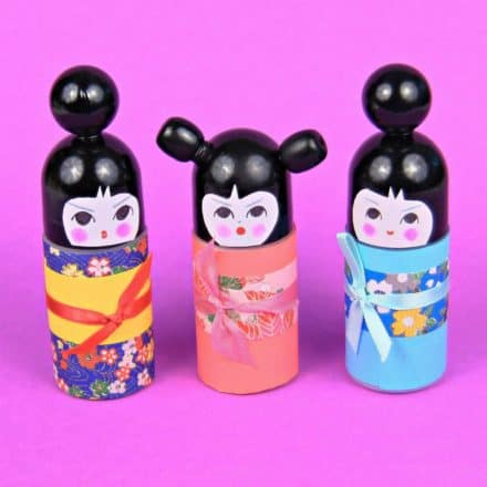 DIY : Roll on bottle Kokeshi Dolls