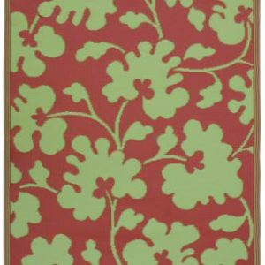 Fab-Habitat-4-Feet-by-6-Feet-Oslo-IndoorOutdoor-Rug-Scarlet-Red-and-Moss-Green-0