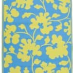 Fab-Habitat-4-Feet-by-6-Feet-Oslo-IndoorOutdoor-Rug-Turquoise-and-Lemon-Yellow-0
