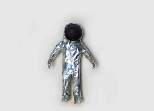 Parer Spaceman Recycled Art