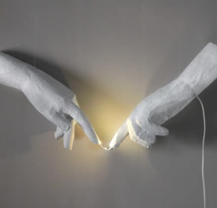 "The creation of Adam ""Handmade lamp"""