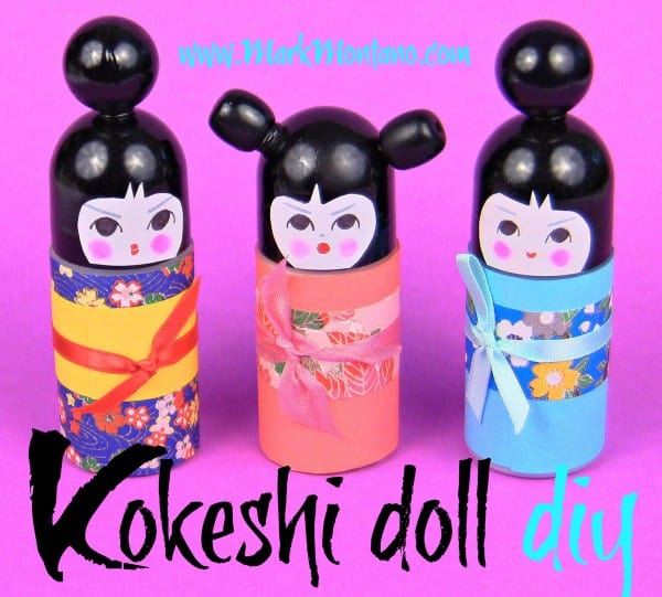 Diy : Roll on Bottle Kokeshi Dolls Do-It-Yourself Ideas