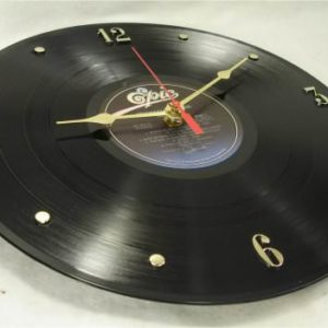 MICHAEL-JACKSON-Recycled-Vinyl-Record-Clock-Thriller-1982-0