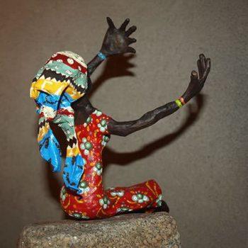Papier-mâché art - African woman