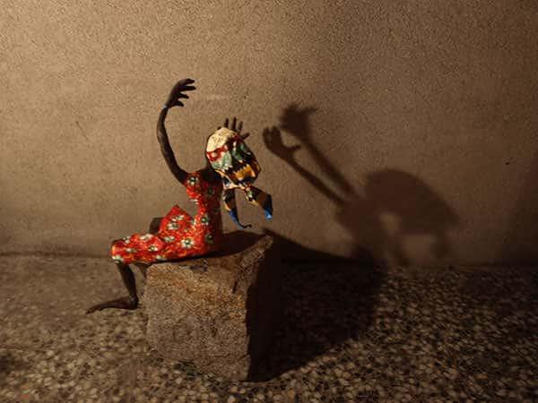Papier-mâché Art – African Woman Recycled Art Recycling Paper & Books